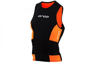 maillot de triathlon orca swimrun noir orange