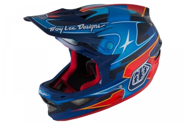 casque integral troy lee designs d3 carbon mips render 2016 bleu rouge