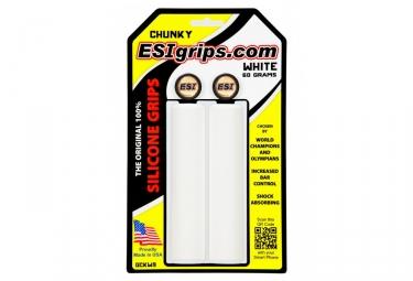 paire de grips esi chunky 32mm blanc