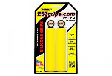 paire de grips esi chunky 32mm jaune