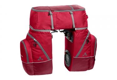 triple sacoches de porte bagage vaude karakorum rouge