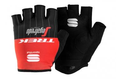 paire de gants courts trek sportful segafredo pro race rouge noir