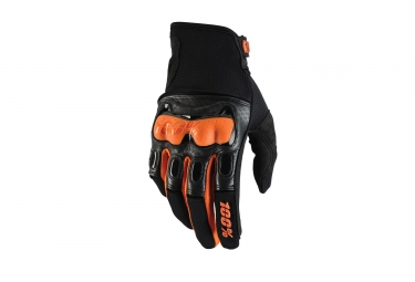 gants longs 100 derestricted noir orange