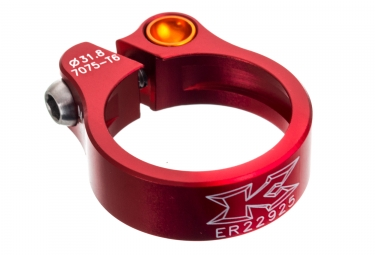 collier de selle kcnc road lite 31 8mm rouge