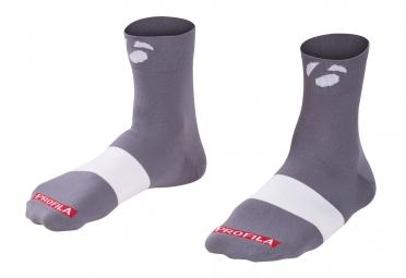 chaussettes bontrager race 6cm gris