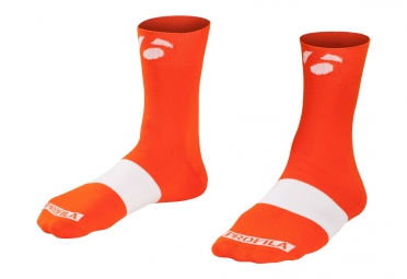 chaussettes bontrager race 6cm orange tomate