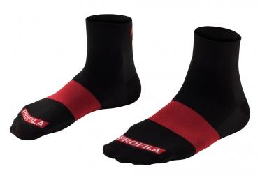 chaussettes bontrager race 2 5cm noir rouge