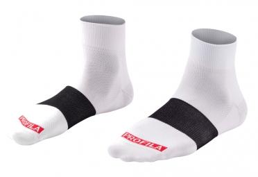 chaussettes bontrager race 2 5cm blanc