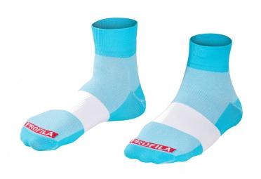 chaussettes bontrager race 2 5cm bleu blanc