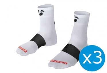 pack de 3 paires de chaussettes bontrager race 6cm blanc