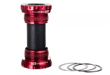 boitier de pedalier acs crossfire externe rouge