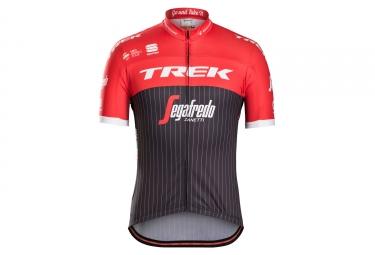 maillot manches courtes trek segafredo replica noir rouge