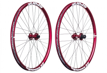 paire de roues spank spoon 32 27 5 axes 20x110 12x150mm shimano sram rouge