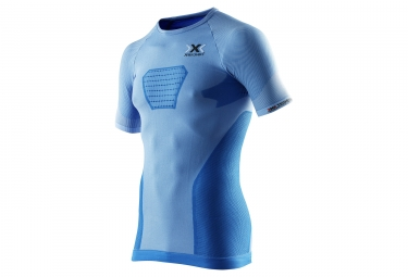 maillot manches courtes x bionic speed evo bleu