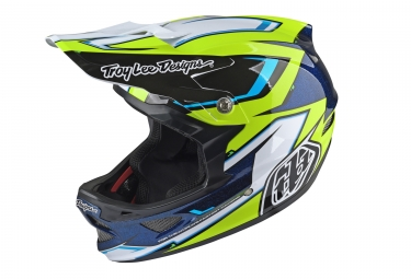 casque integral troy lee designs d3 composite cadence jaune noir 2017