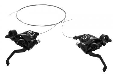 paire de commandes et frein shimano altus st ef51 3x7 vitesses noir