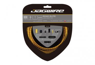 kit cable et gaine route jagwire road elite link pour derailleur or