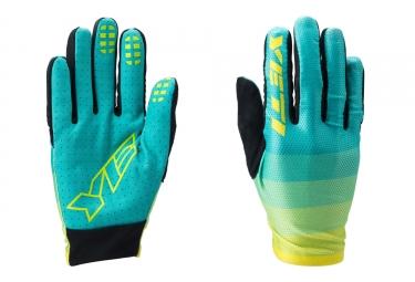 gants longs yeti enduro bleu jaune
