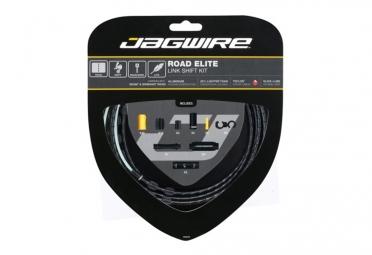 kit cable et gaine route jagwire road elite link pour derailleur noir