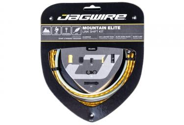 kit cable et gaine vtt jagwire mountain elite link pour derailleur or
