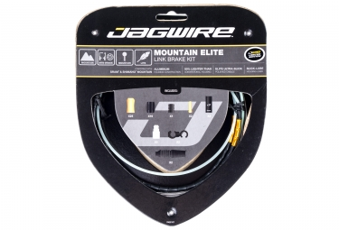 kit cable et gaine vtt jagwire mountain elite link pour frein limited edition noir