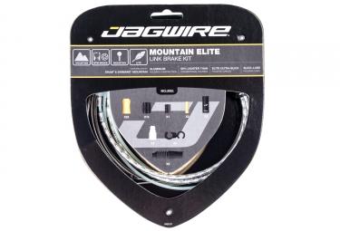 kit cable et gaine vtt jagwire mountain elite link pour freins argent