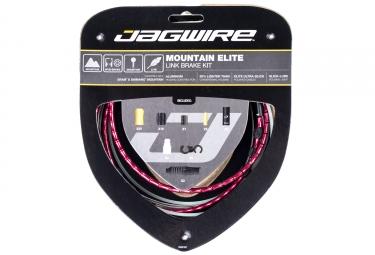 kit cable et gaine vtt jagwire mountain elite link pour freins rouge