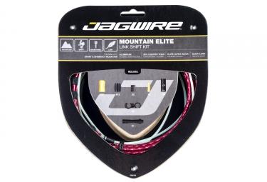 kit cable et gaine vtt jagwire mountain elite link pour derailleur rouge