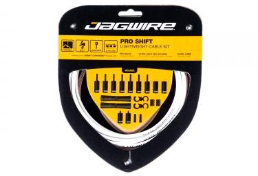 kit cable et gaine universel jagwire pro pour derailleur blanc