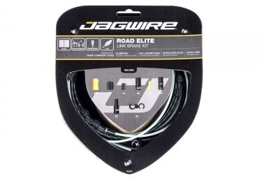 kit cable et gaine route jagwire road elite link pour freins noir
