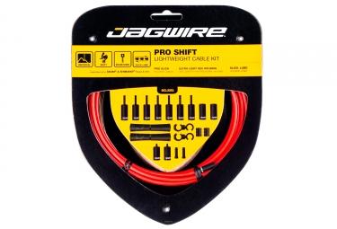 kit cable et gaine universel jagwire pro pour derailleur rouge