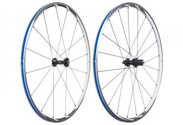 paire de roues shimano wh rs21 pneus corps shiman sram blanc
