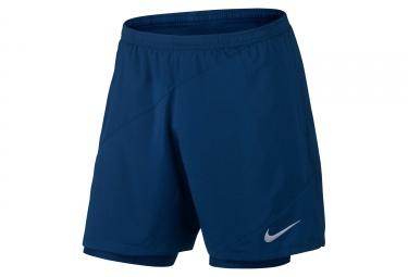 short 2 en 1 homme nike flex bleu