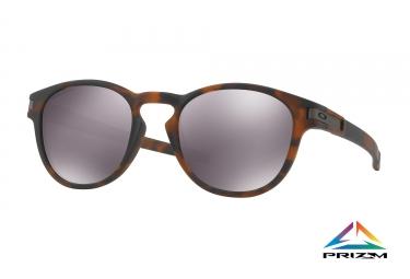 paire de lunettes oakley latch matte brown tortoise prizm black ref oo9265 22