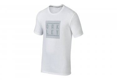 t shirt oakley o blur stack blanc