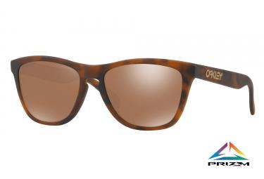 paire de lunettes oakley 2017 frogskins matte tortoise prizm tungsten ref oo9013 c5