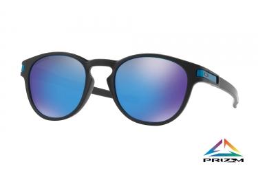 paire de lunettes oakley 2017 latch matte black prizm sapphire ref oo9265 30