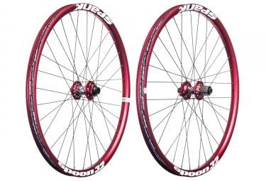paire de roues spank spoon 32 27 5 20x110 12x135mm shimano sram rouge