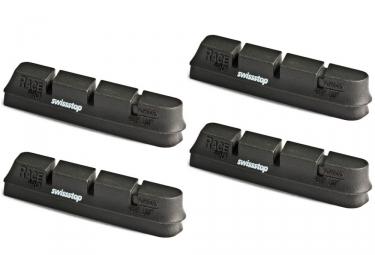 x4 cartouches de patins de freins swisstop race pro pour campagnolo noir