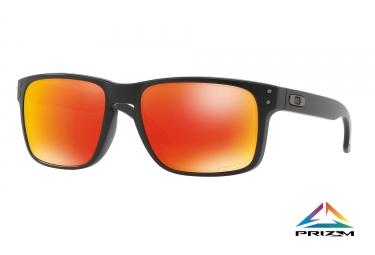 paire de lunettes oakley 2017 holbrook matte black prizm ruby ref oo9102 e2