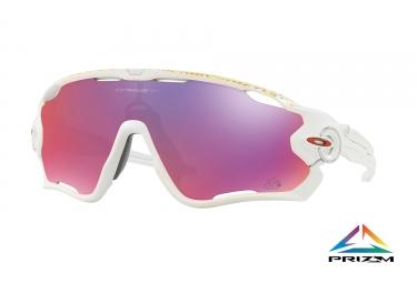 paire de lunettes oakley 2017 jawbreaker tour de france matte white prizm road ref o