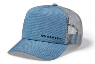 casquette oakley k 38 hydrofree trucker 2 0 snapback gris bleu
