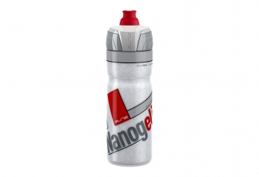 bidon elite thermo nanogelite 550ml gris rouge