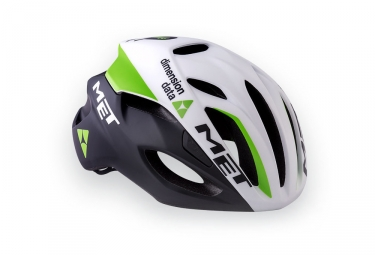 casque met rivale team dimension data blanc noir vert