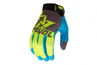 gants longs royal victory jaune bleu