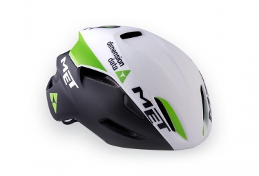 casque met manta team dimension data blanc noir vert
