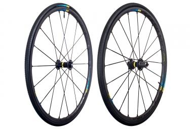 paire de roues mavic ksyrium pro exalith haute route shimano sram yksion pro 25mm
