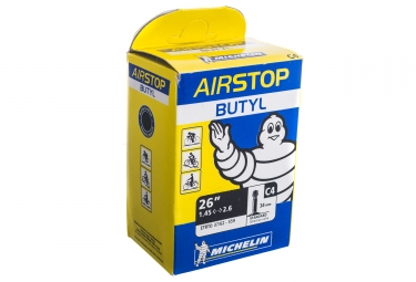 michelin chambre a air butyl c4 26x1 45 2 60 schrader