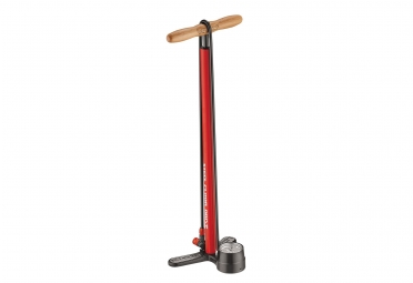 pompe a pied lezyne steel floor drive rouge