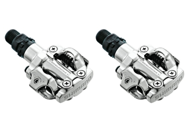 shimano paire de pedales spd m520 argent
